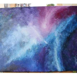 Galaxy Oil Painting Commission