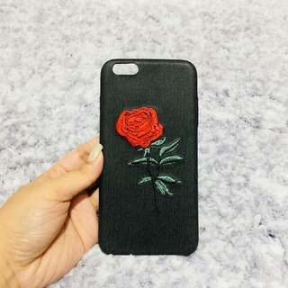 iPhone 6/6s Plus Rose Embroidered Case