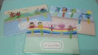 【$10/3套*全場最平】全新兒童小朋友 功課 獎勵 閱讀 公仔卡通 書籤 Cartoon Bookmark