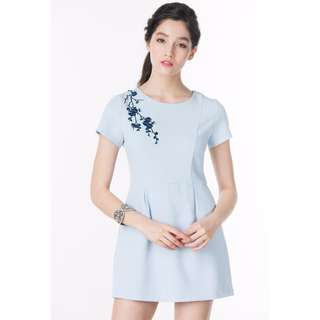 ninthcollective xuan blossoms embroidered romper