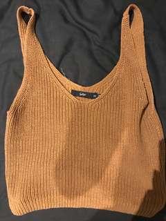 Sportsgirl knit crop top