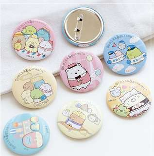 Sumikko Gurashi Travel Series Badges