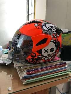 Helm GM Bikerz Demon Orange