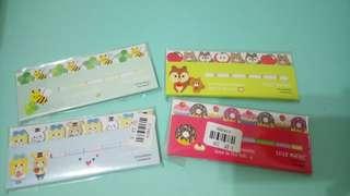 【$10/4套*全場最平】全新兒童小朋友 功課 獎勵 閱讀 公仔卡通 書籤 便條紙 Cartoon Bookmark Sticker Marker