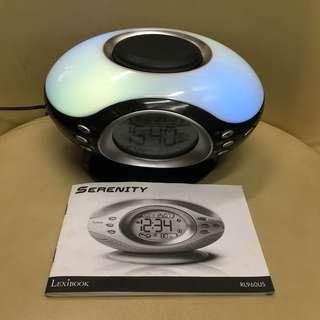 全新電子收音機鐘有濕度溫度音樂鐘需要變壓