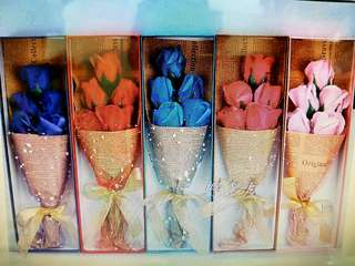 5 stalks Handmade  Roses Soap Flowers