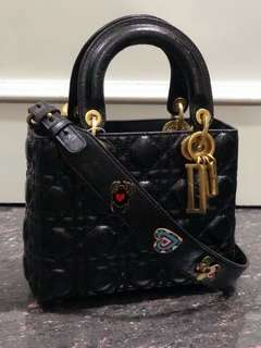 SALE! Lady dior 23cm mirror replica bag black
