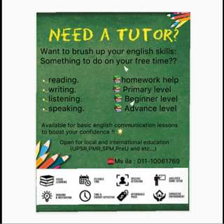 HOME TUITION FOR ENGLISH AND SCIENCE