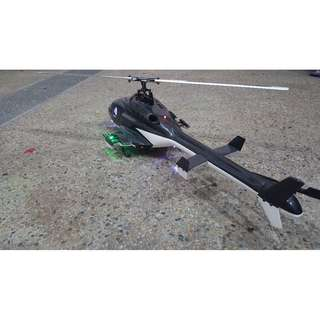 Airwolf Scale RC Heli (450 size) with Radio Transmitter for Sale (Ready to Fly)