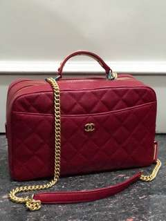 SALE! Chanel trunk bag red mirror replica bag