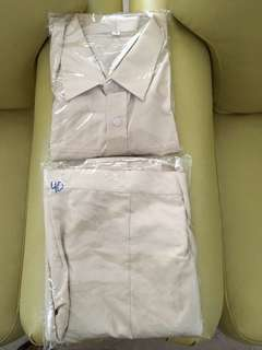 Hwa chong junior college brand new girls uniform size 46 blouse and size 40 skirt