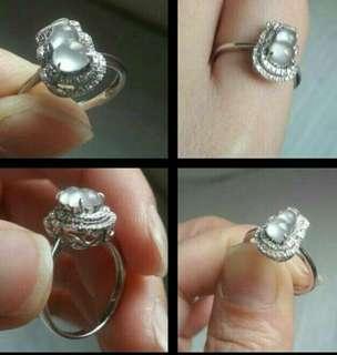 🚚 ╭*玻璃種放光葫蘆18K金戒指 (天然緬甸玉A貨) 八心八鑽石,爪鑲兩排真鑽,起光,鏤空沒封底,福到招財保平安