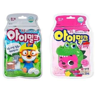 預購 韓國 HAITAI 海太 快樂小企鵝 pororo Pinkfong 핑크퐁 碰碰狐 兒童牛奶鈣片