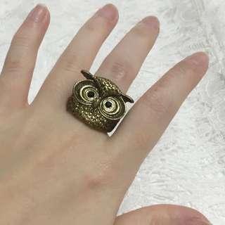 Owl Ring // Cincin