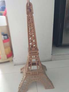 #blessing Eiffel tower wood model