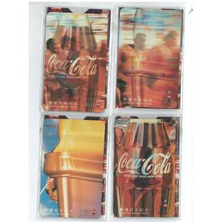 可樂迷不要錯過,可口可樂 奧運百年紀年磁石貼連紙套,一套四款全齊。