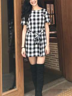 F21 Checkered Dress