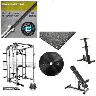 Power Rack Versarack XL OLYMPIC Plates Olympic Bar Mats Weight Tree Ironmaster bench Hex Dumbbells