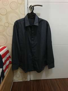 Men Casual Long Shirt (Size: L)