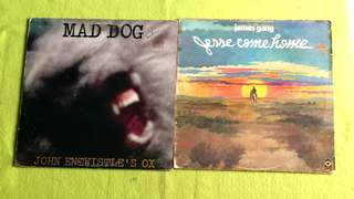 JOHN ENTWISTLE 'S OX ● JAMES GANG . mad dog / jesse come home. ( buy 1 get 1 free )  vinyl record