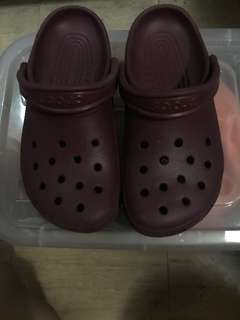 Authentic Crocs Maroon