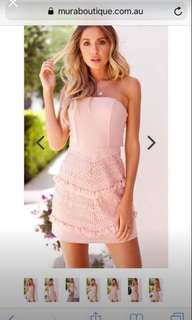 Blush pink Boobtube dress