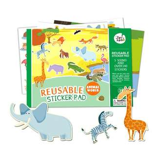 Reuseable Sticker Pad - Zoo Edition