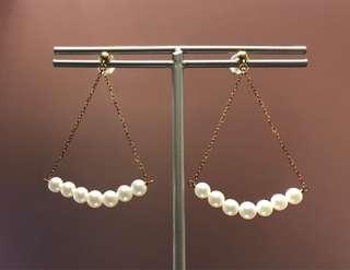 日本養珠18k金耳環