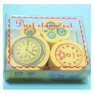 Kodomo no Kao Rubber stamp - Clock