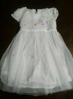 Baptismal Dress with Floral Embroidery