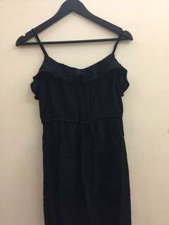 H&M Black Spaghetti Strapped Dress