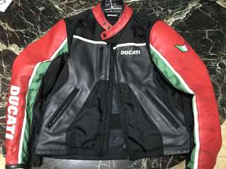 Ducati leather perforated mesh jacket
