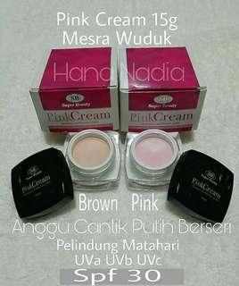 Pink Cream 15g Mesra Wuduk Brown atau Pink SGD $18 sebotol
