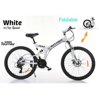 FREE Delivery -Full Suspension Bike)Brand new 26'' Foldable Bike,21 Shimano Speeds,Disk brakes etc.