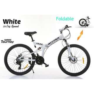FREE Delivery -Full Suspension Bike)Brand new 26'' Foldable Bike,21 Shimano Speeds,Disk brakes etc.