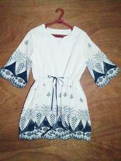 White Boho style Dress