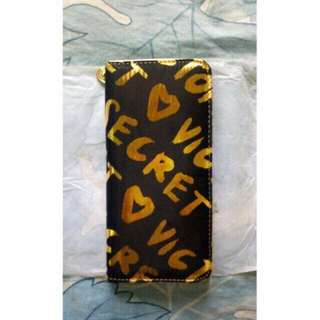 ORIG from US Black and Gold Victoria Secret Wallet