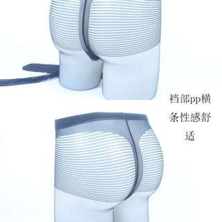 Men's  Strips Shocking Underwear Underpants (Black / Skin)