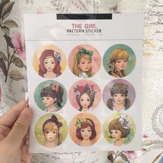 The Girl Pattern Stickers