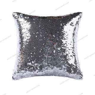 Cushion Pillow Case - Bling Silver - Quality Printed Fabric 45cmx45cm $24.90ea, (Preorder 2 Weeks)