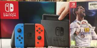 Nintendo Switch with Fifa 2018(free upgrade to Russia World Cup)