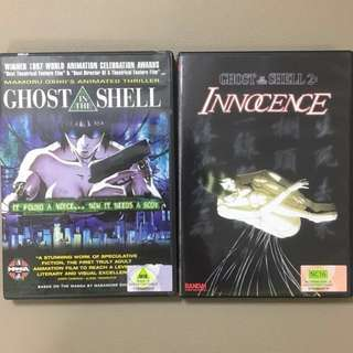 Ghost in the Shell 1 & 2 Anime Movies