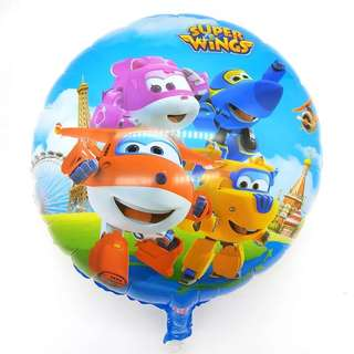 🚁 Super Wings party supplies - party balloons / party deco