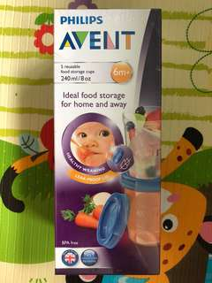 Philips Avent Food / Milk Storage Cups
