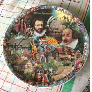 Decorative William Shakespeare Fine Bone China plate