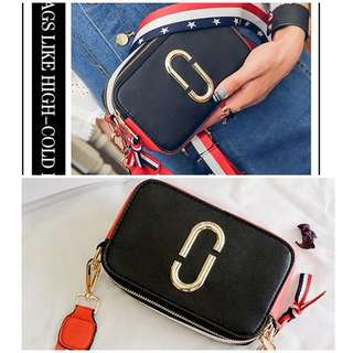 BTH1128-black Tas Selempang MJ Import