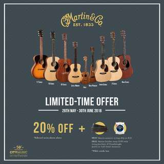 Martin Guitar Limited Time Offer