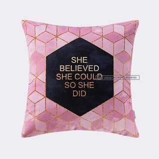 Cushion Pillow Case - Pink Box - Quality Printed Fabric 45cmx45cm $24.90ea, (Preorder 2 Weeks)