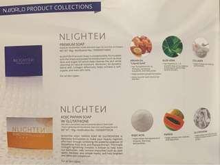 NLIGHTEN PREMIUM SOAP AND KOJIC PAPAYA SOAP W/ GLUTATHIONE