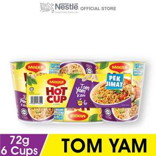 MAGGI Hot Cup Tom Yam 6 cups,Buy 2